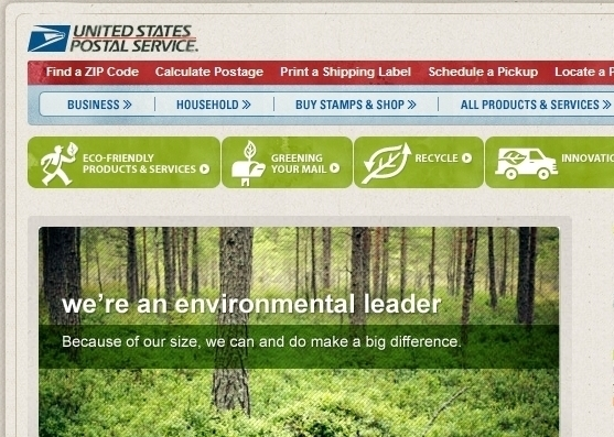 USPS.com - Green website