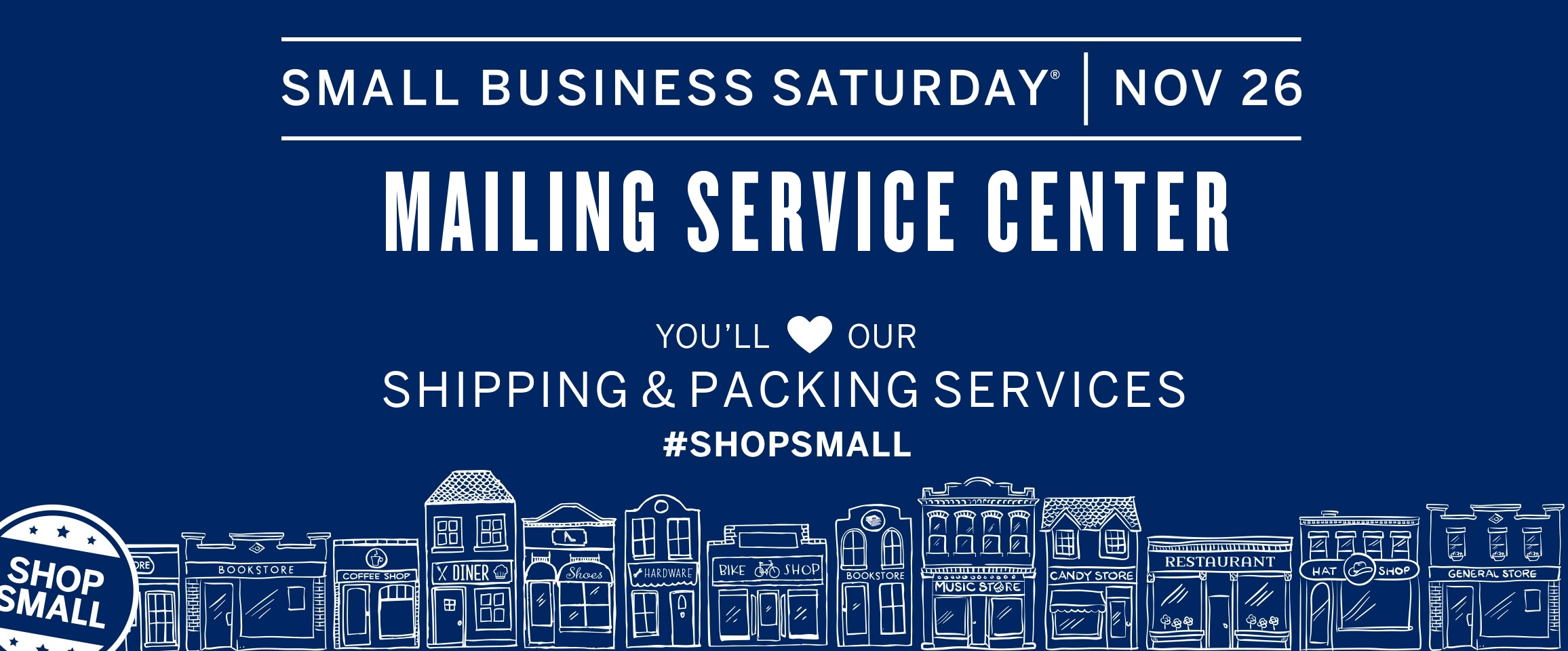 Mailing Service Center Celebrates Small Business Saturday 11/26/16